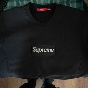 Supreme crew neck black pre owned